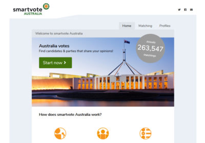Smartvote Australia Startseite